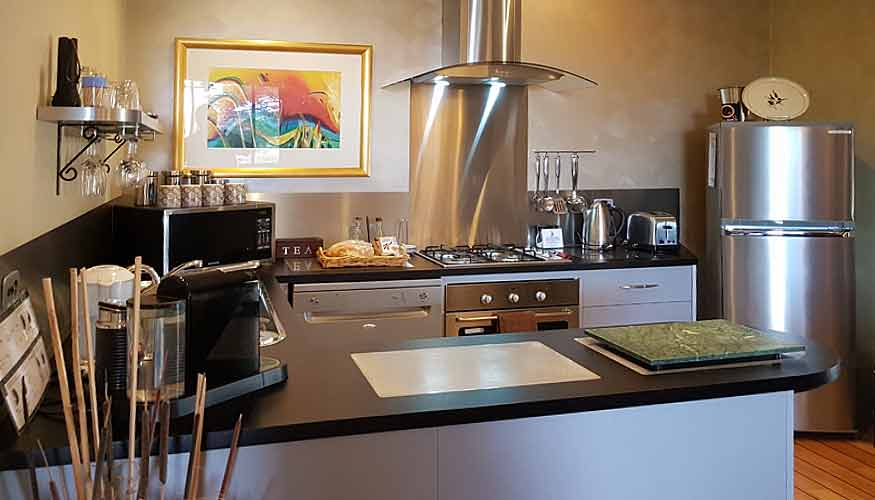 Bob's Bungalow luxury villa kitchen for in-room self-catering